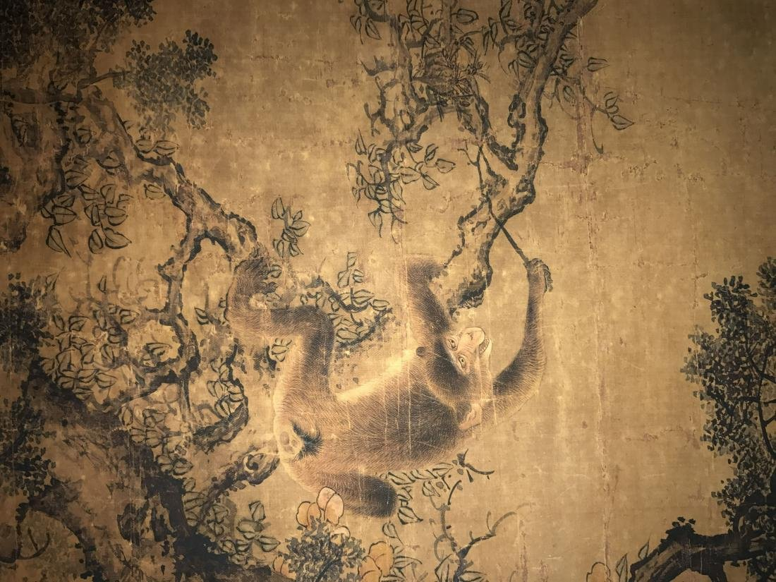 A Chinese Deer-fortune Natural-sceen Estate Scroll - 8