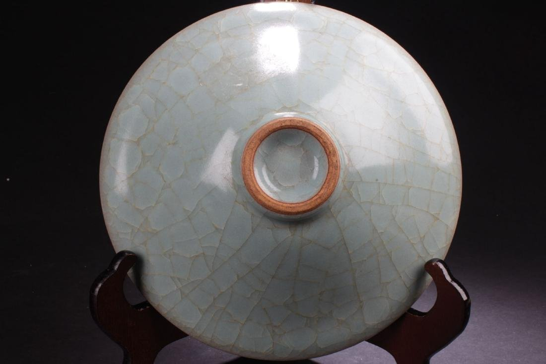 A Circular Chinese Crack-stylePorcelain Plate Display - 7