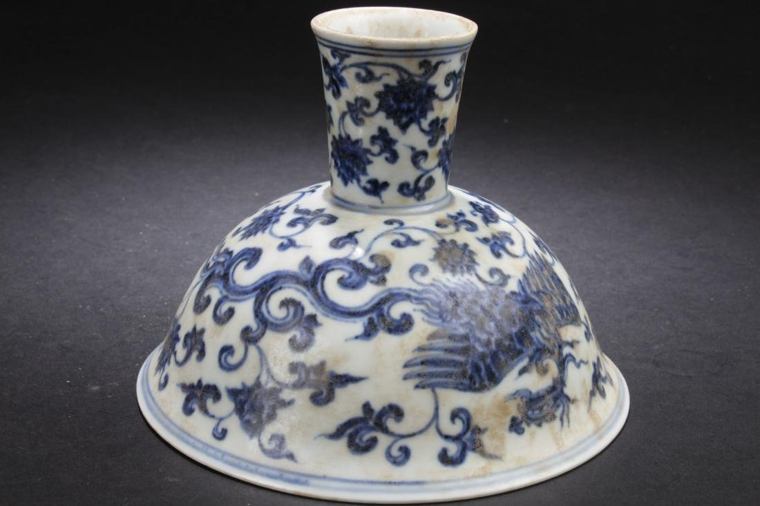 A Chinese Plant-filled Fortune Blue and White Estate - 4