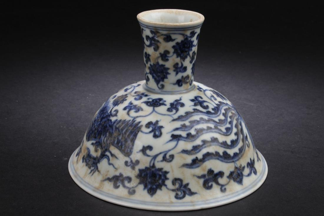 A Chinese Plant-filled Fortune Blue and White Estate - 5