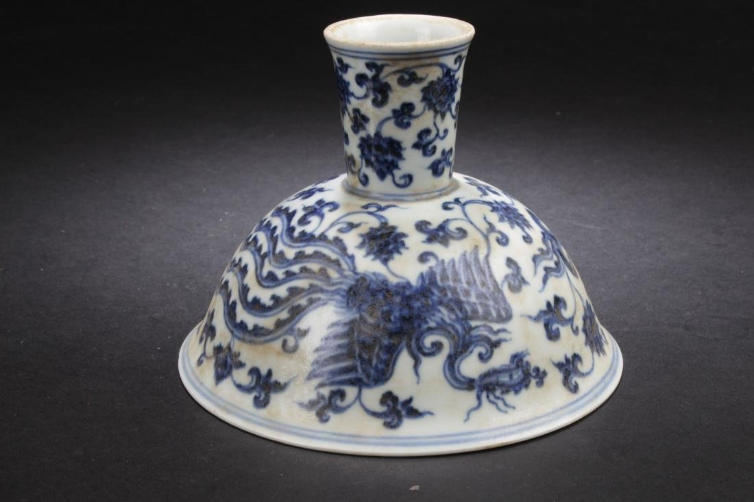 A Chinese Plant-filled Fortune Blue and White Estate - 6