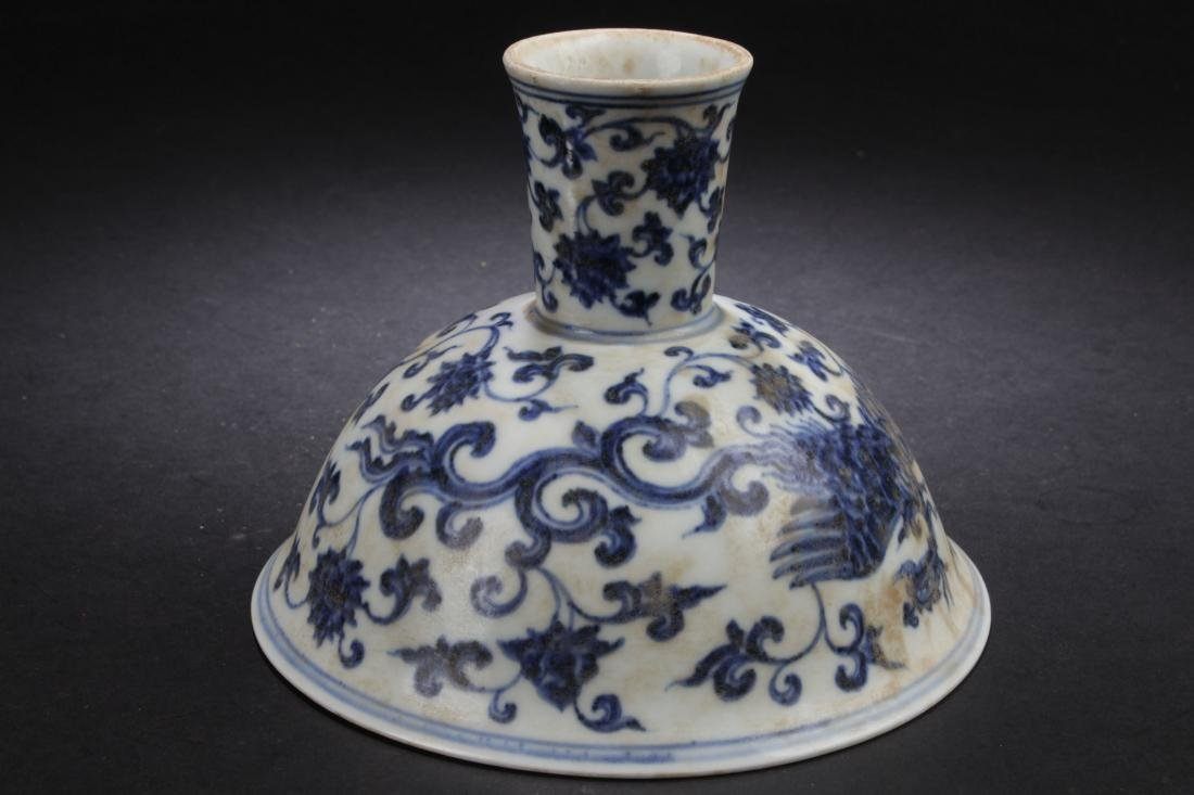 A Chinese Plant-filled Fortune Blue and White Estate - 7