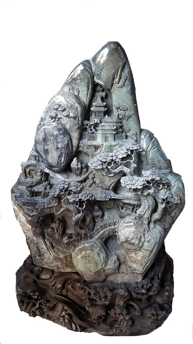 Chinese Large Jade Sculpture