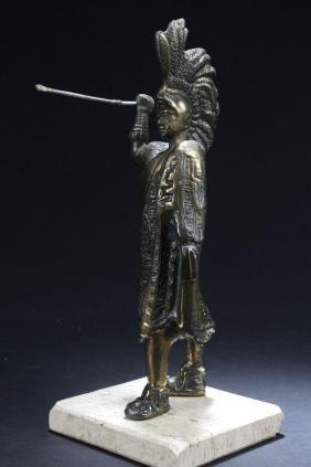 An Estate Metal-craft Statue Display
