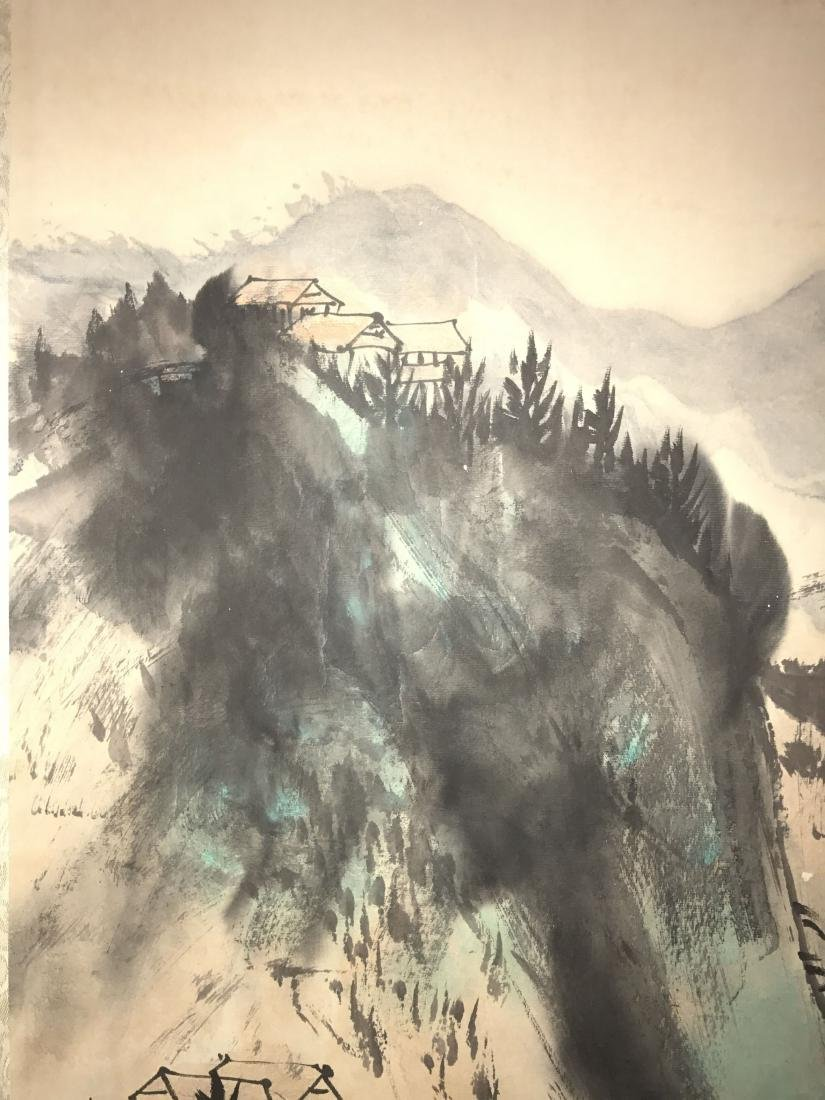 A Chinese Mountain-view Estate Fortune Scroll Display - 4