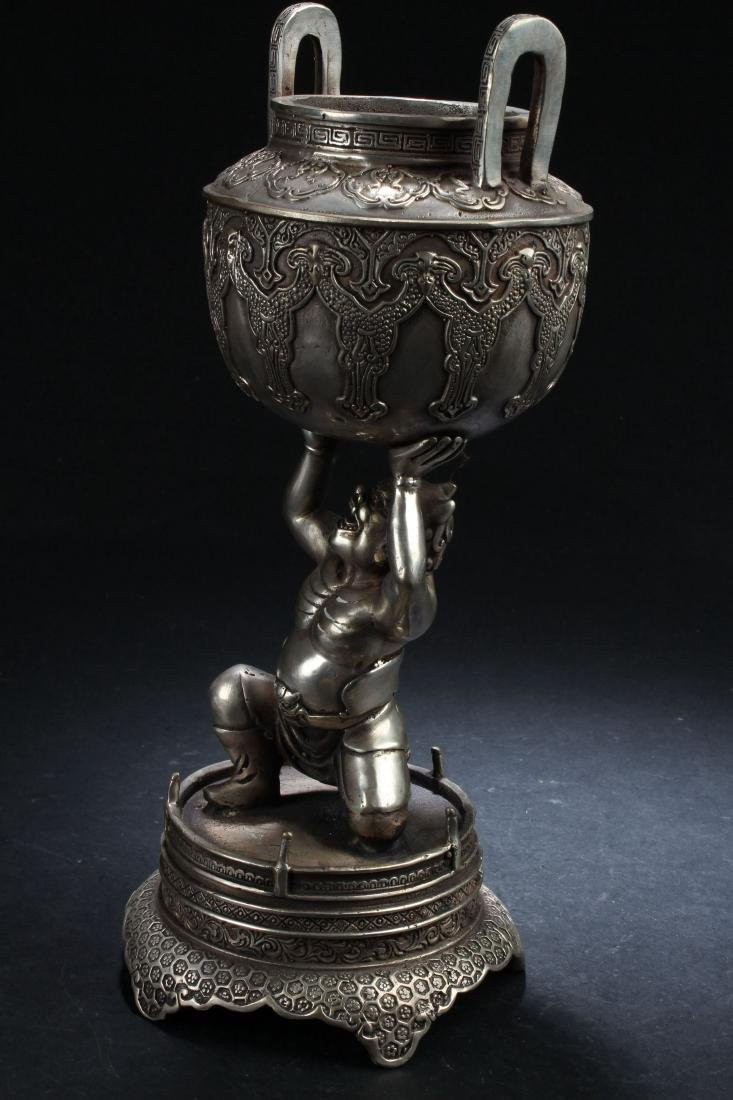 A Chinese Religious Seated Legendary Censer Display - 3