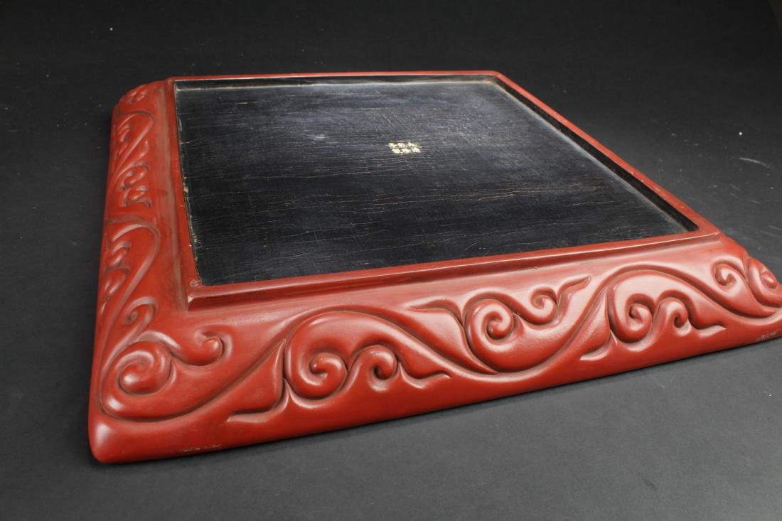 A Chinese Square Story-telling Estate  Lacquer Display - 6