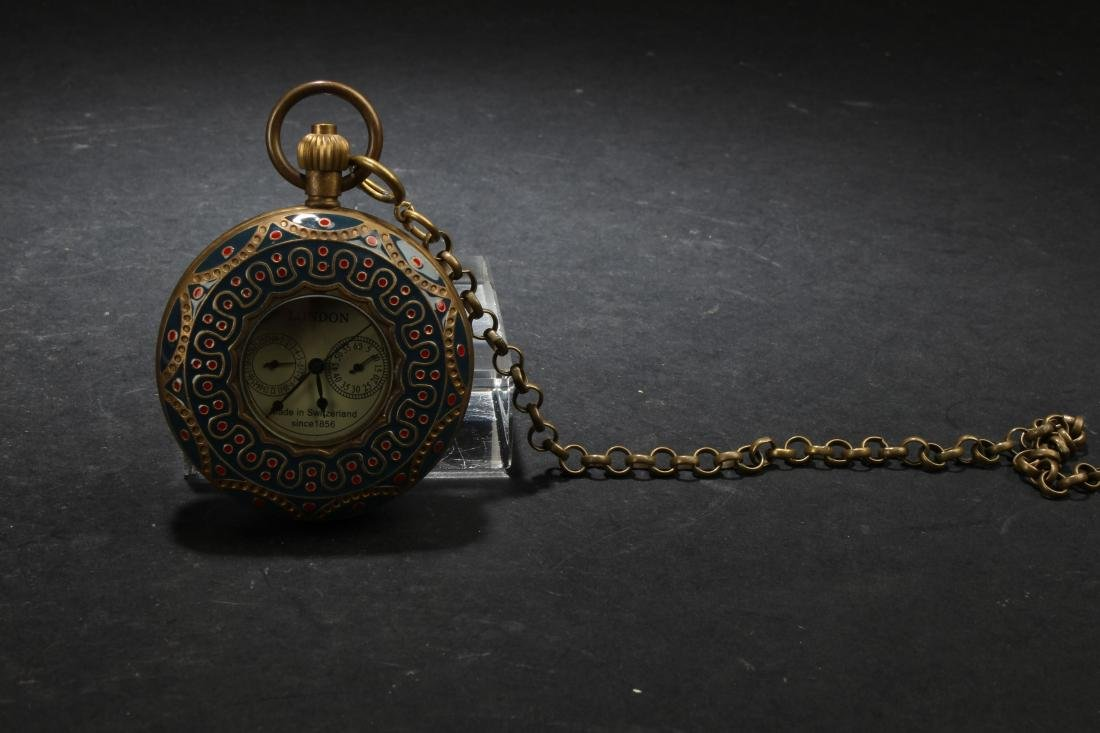 An Estate Chinese Dragon-decorating Pocket-watch
