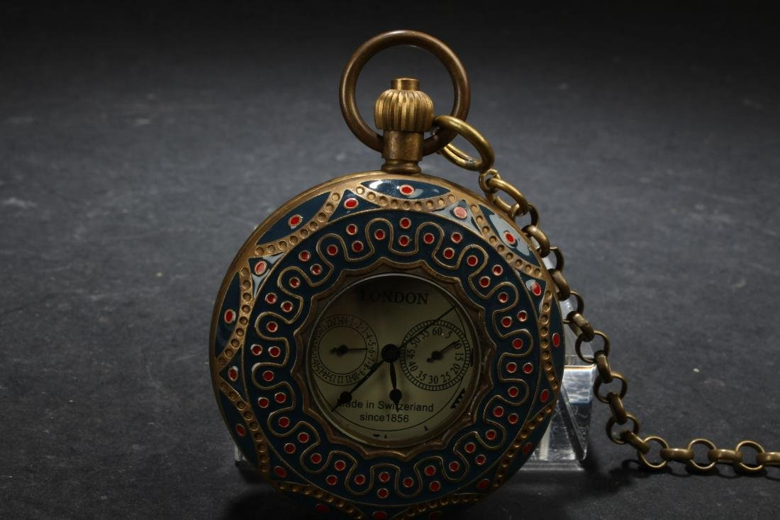 An Estate Chinese Dragon-decorating Pocket-watch - 2