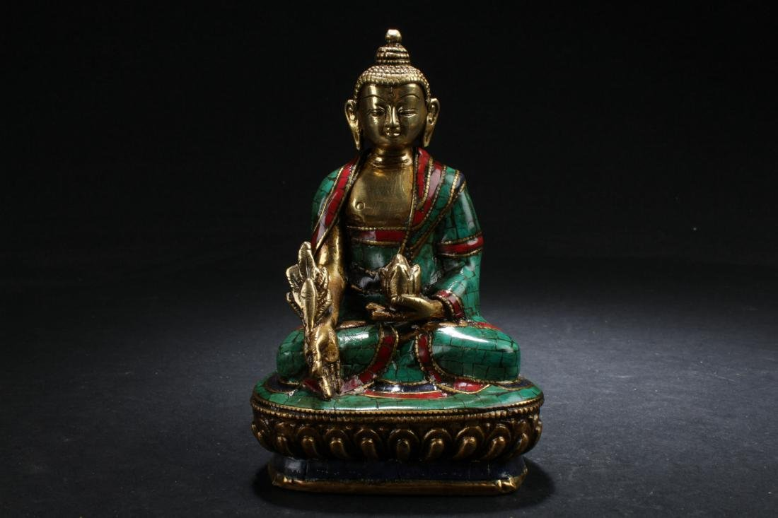 An Estate Chinese Fortune Buddha Display