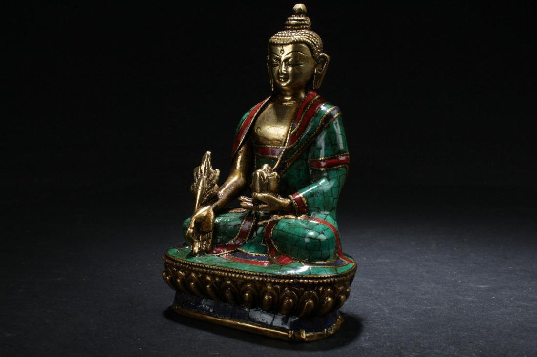 An Estate Chinese Fortune Buddha Display - 3
