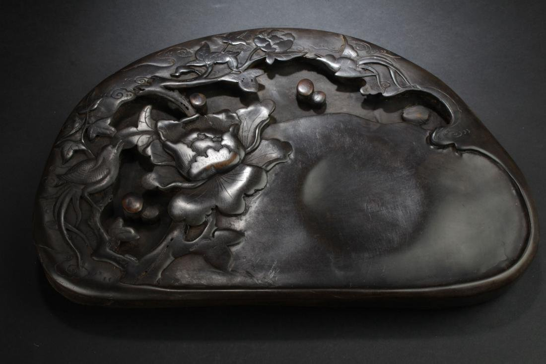 A Nature-sceen Chinese Estate Inkstone Display