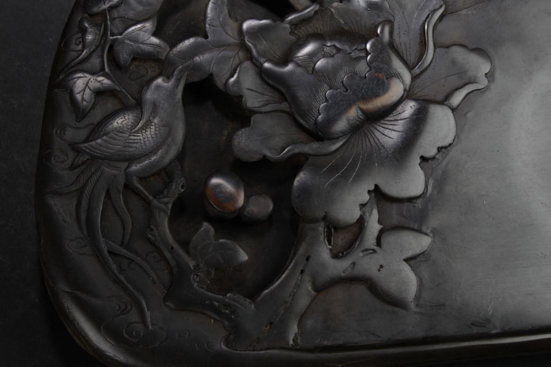 A Nature-sceen Chinese Estate Inkstone Display - 2