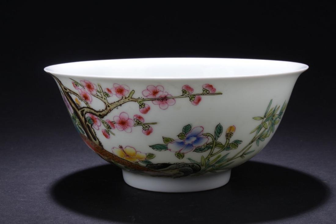A White-Porcelain Chinese Poem-framing Bowl - 2
