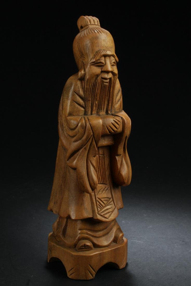 An Estate Chinese Wooden-curving Statue