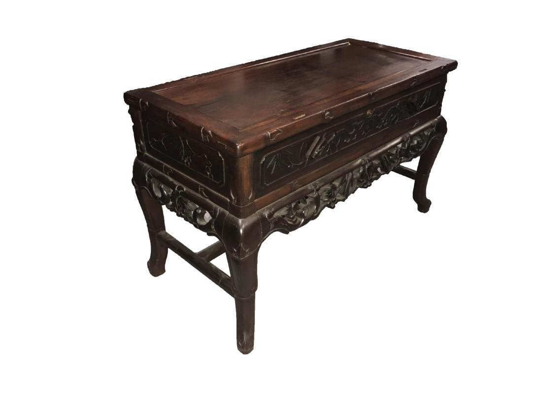 Antique Chinese Hardwood Low Cabinet - 5