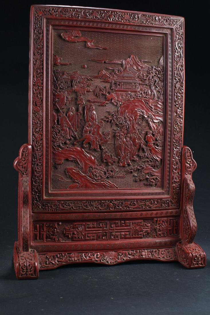 A Massive Chinese Story-telling Estate Lacquer Table