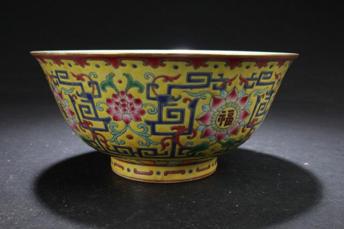 A Chinese Loctus-fortune Estate Porcelain Bowl Display