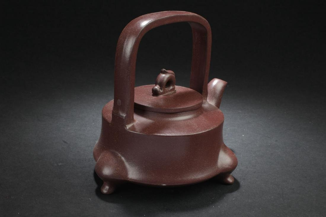 A Tri-podded Chinese Myth-beast Estate Tea Pot - 3