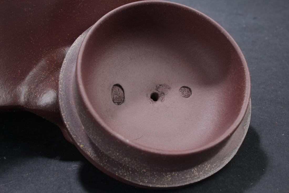 A Tri-podded Chinese Myth-beast Estate Tea Pot - 6