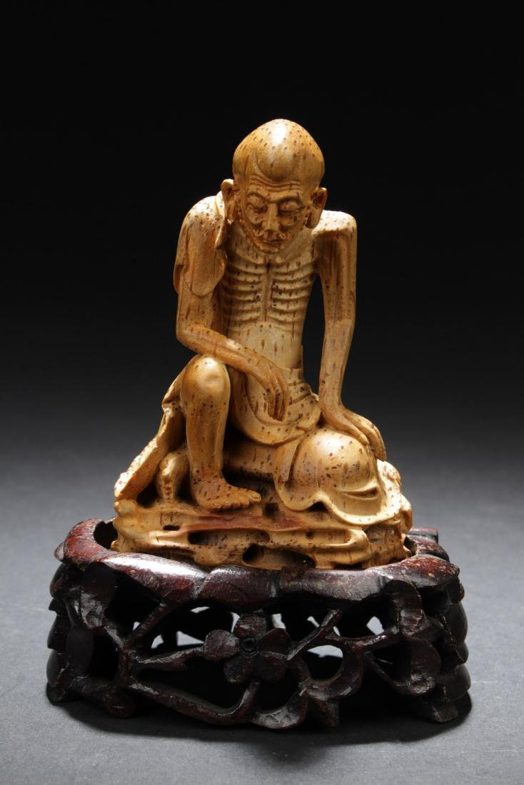 Antique Chinese Bamboo Carved Luohan