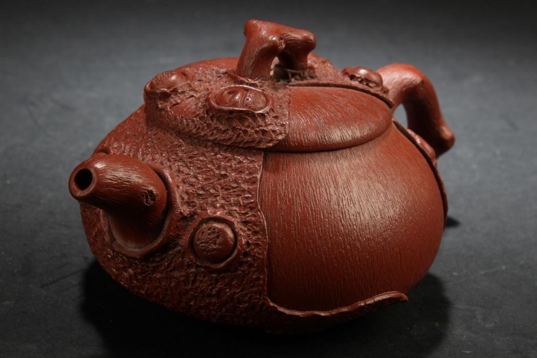 A Chinese Estate Peanut-fortune Tea Pot Display - 2