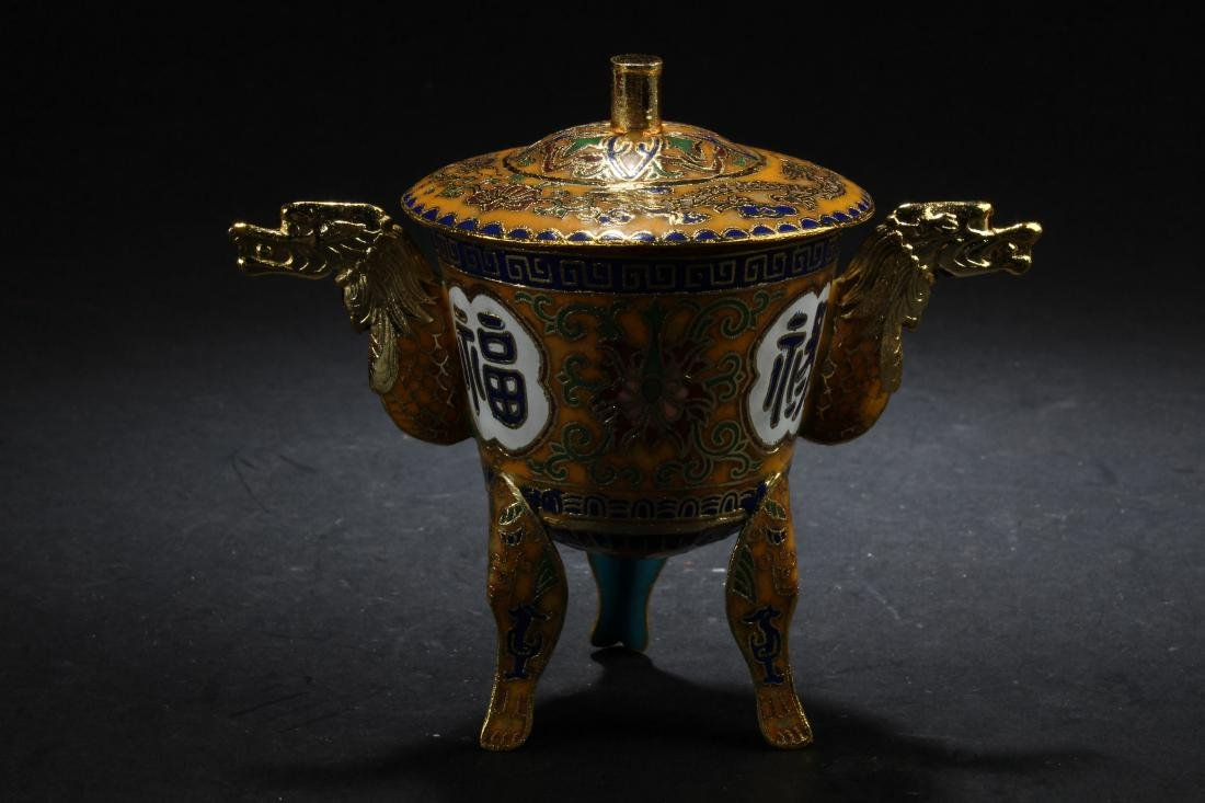 A Chinese Tri-podded Estate Censer Display