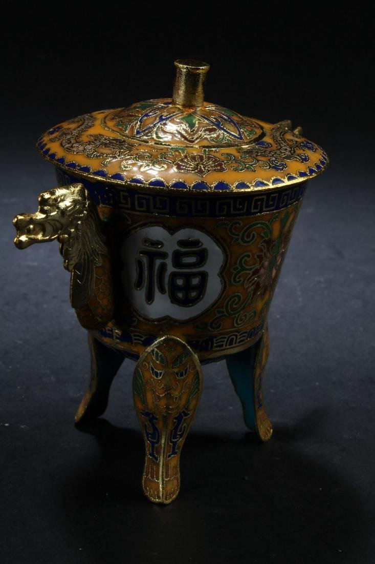 A Chinese Tri-podded Estate Censer Display - 2