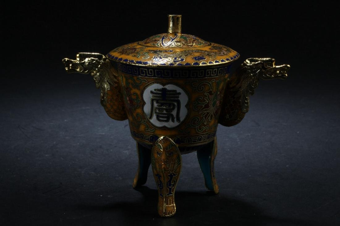 A Chinese Tri-podded Estate Censer Display - 3