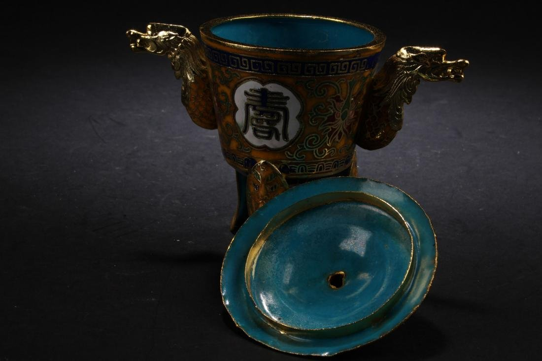 A Chinese Tri-podded Estate Censer Display - 4