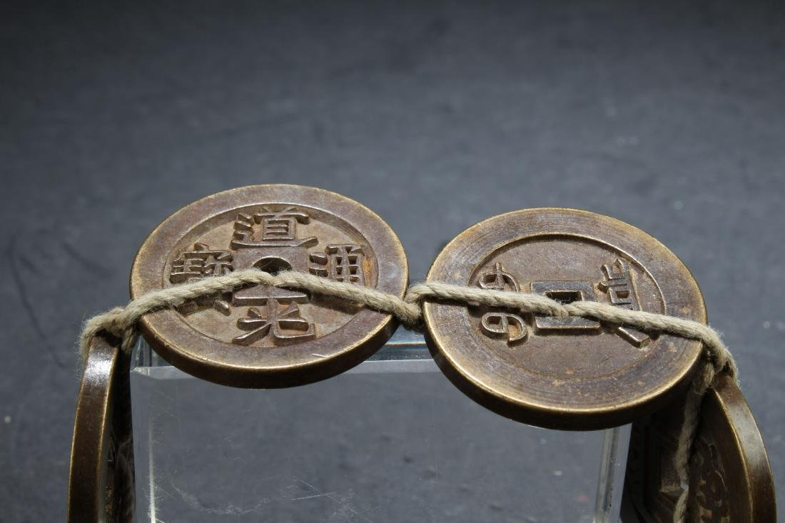 A Chinese Fortune Chain Coin Display - 2