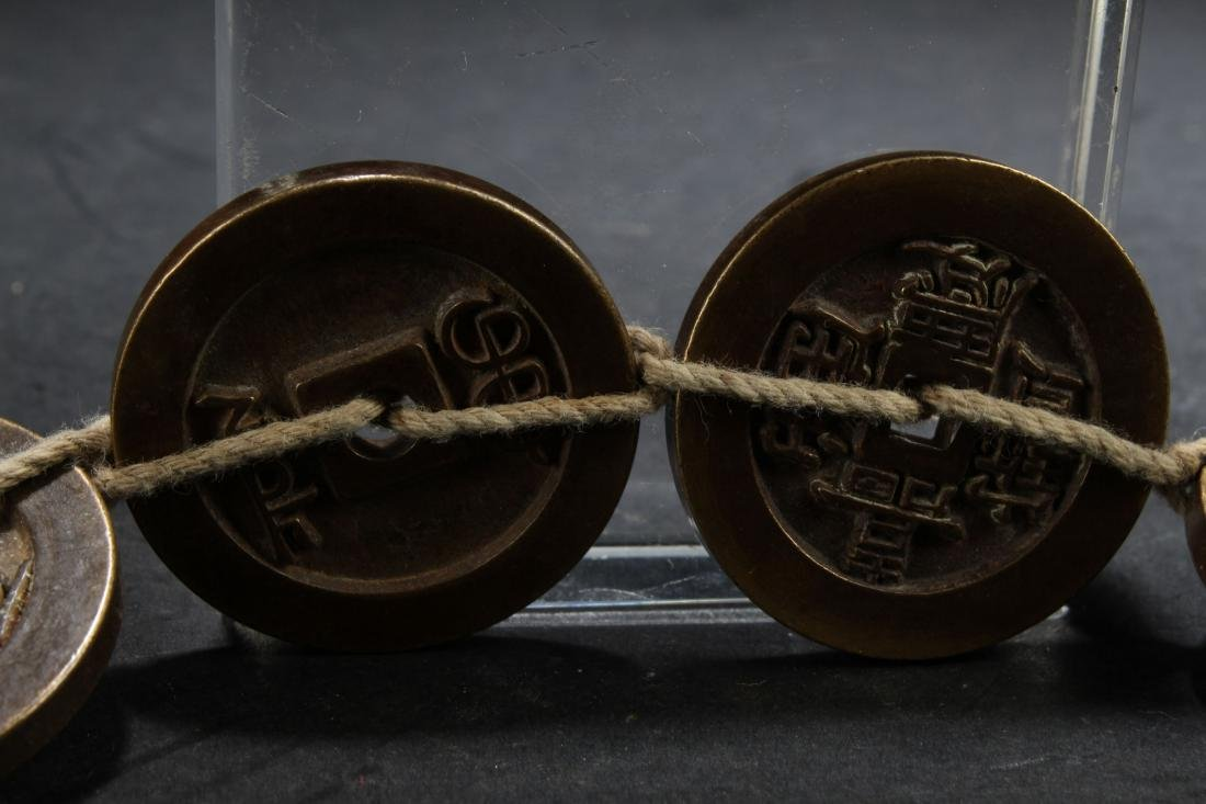 A Chinese Fortune Chain Coin Display - 5