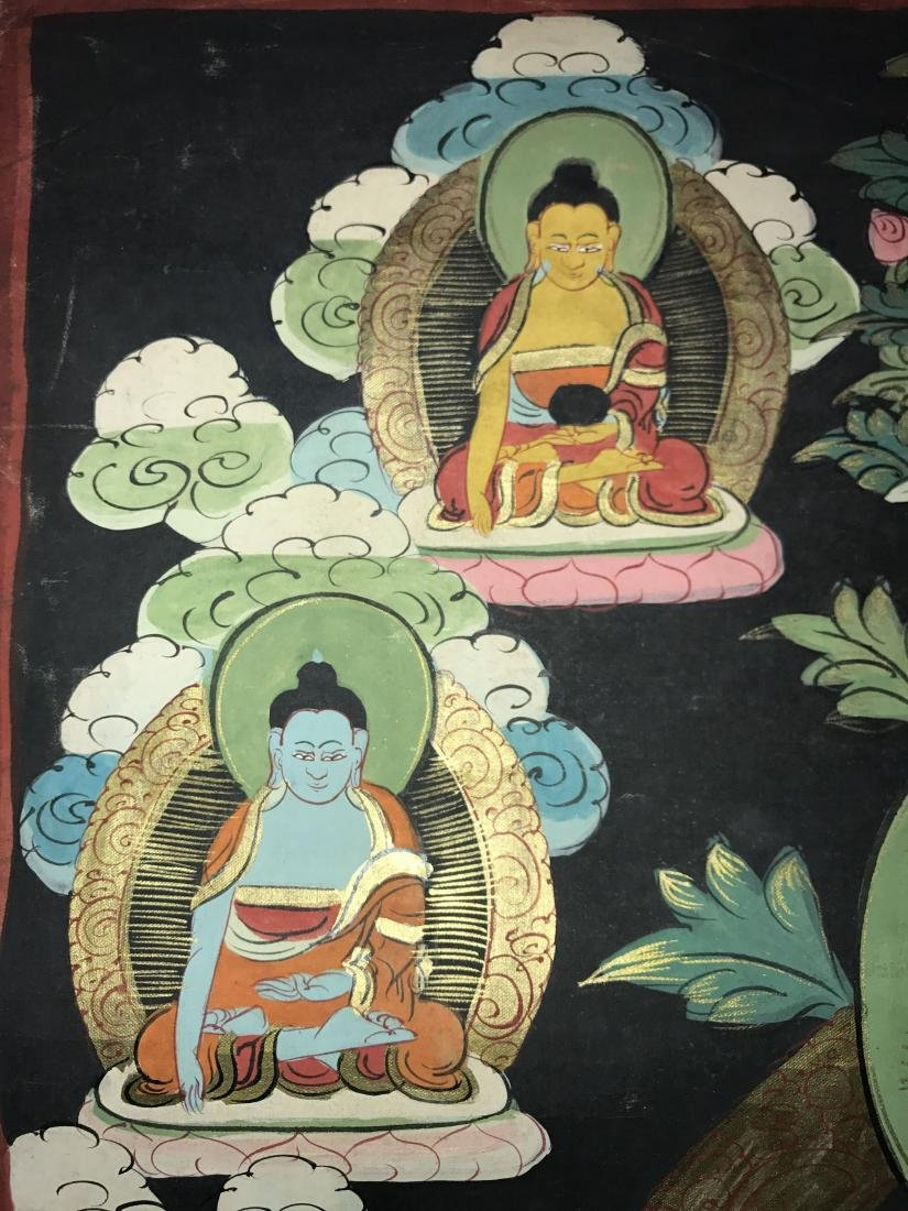 An Estate Chinese Thangka Display - 6