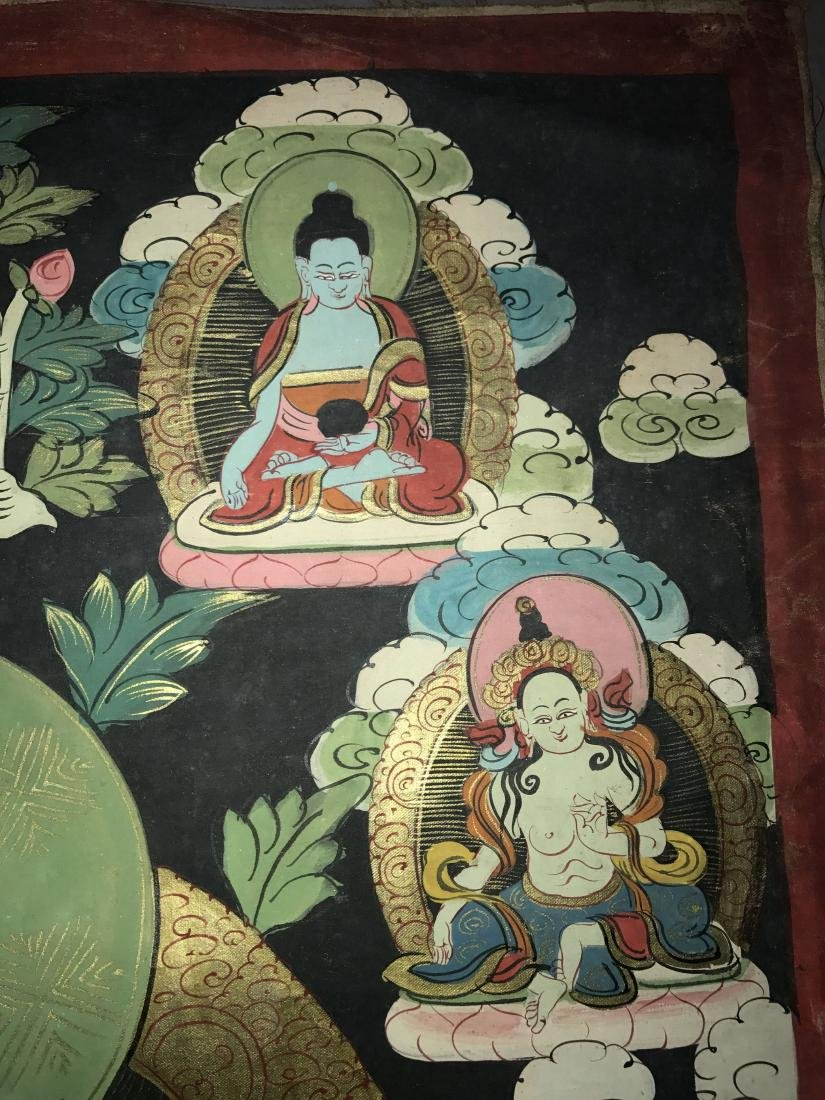 An Estate Chinese Thangka Display - 7