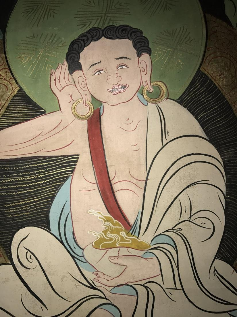 An Estate Chinese Thangka Display - 9