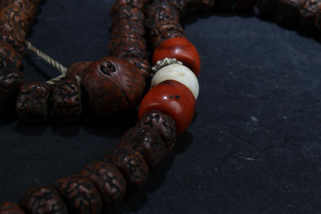 A Tibetan Estate Beaded Fortune Necklace Display - 5