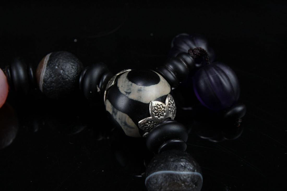 An Estate Tibetan Beaded Bracelet Display - 7