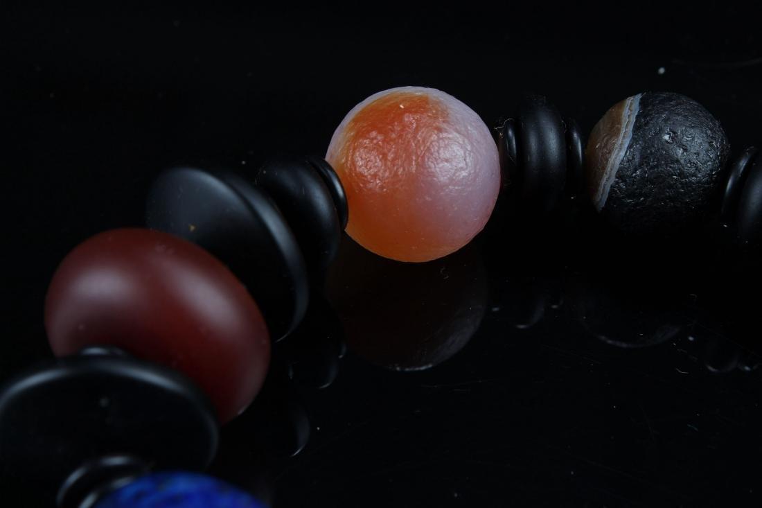 An Estate Tibetan Beaded Bracelet Display - 8