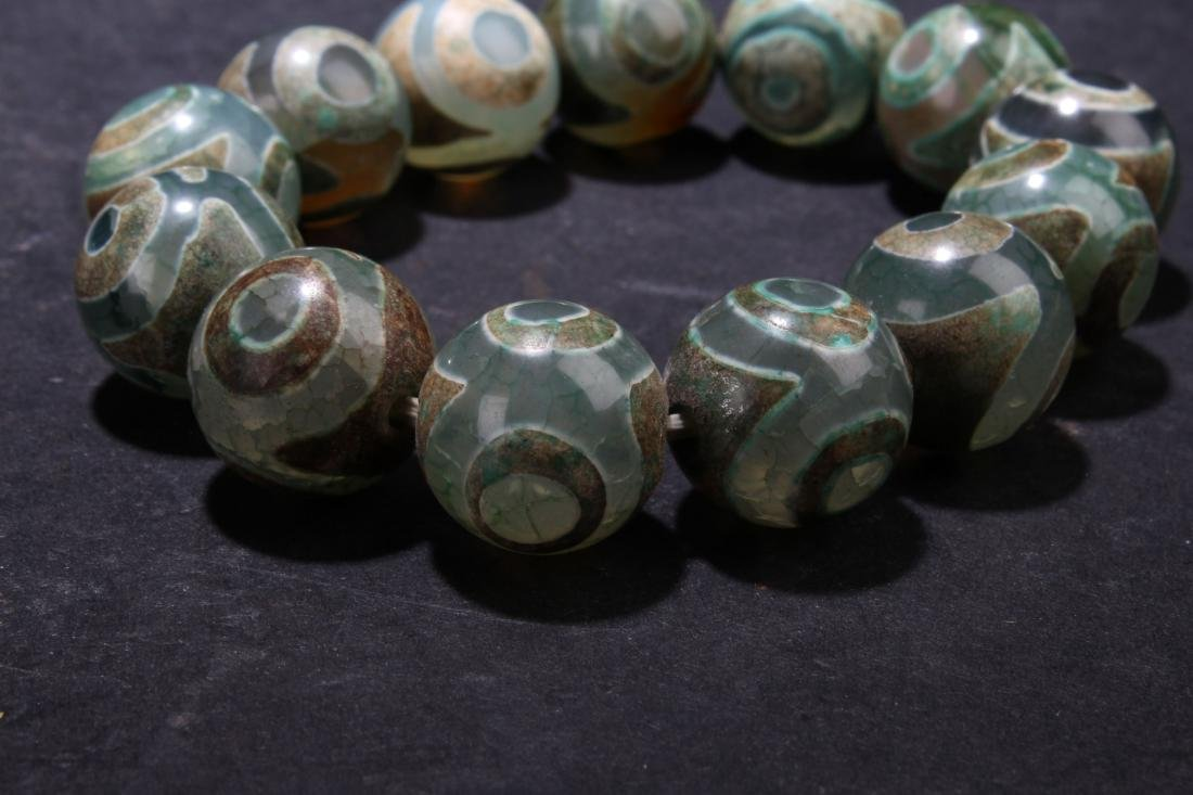 An Estate Beaded Tibetan  Bracelet - 4