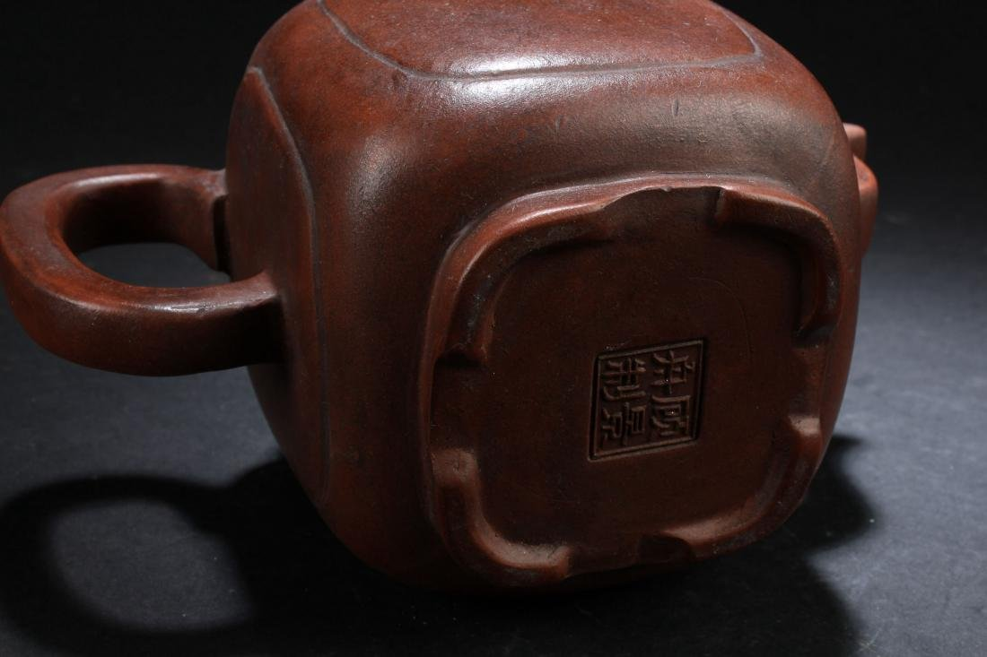 An Estate Chinese Plain-fortune Tea Pot Display - 5