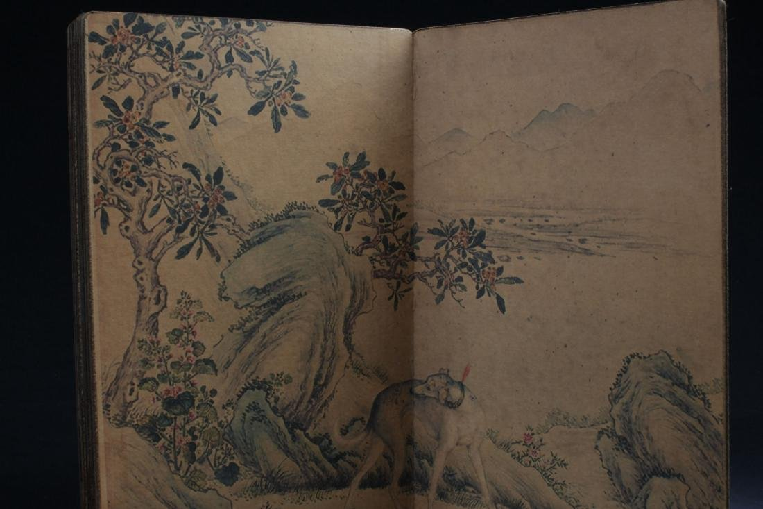 A Chinese Dog-portrait  F ortune Book Display - 2