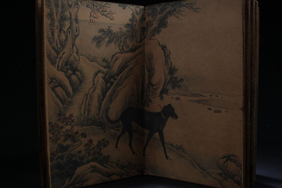 A Chinese Dog-portrait  F ortune Book Display - 6