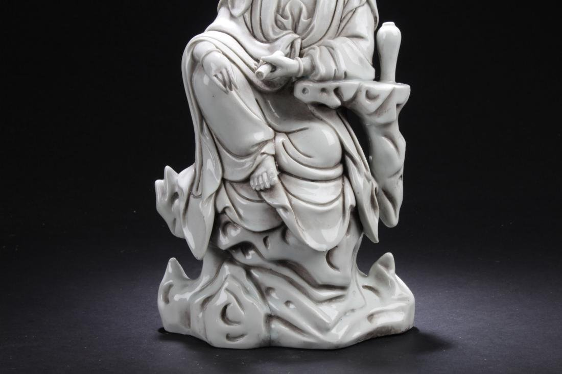 An Estate Chinese Seated Guanyin Porcelain Statue - 3
