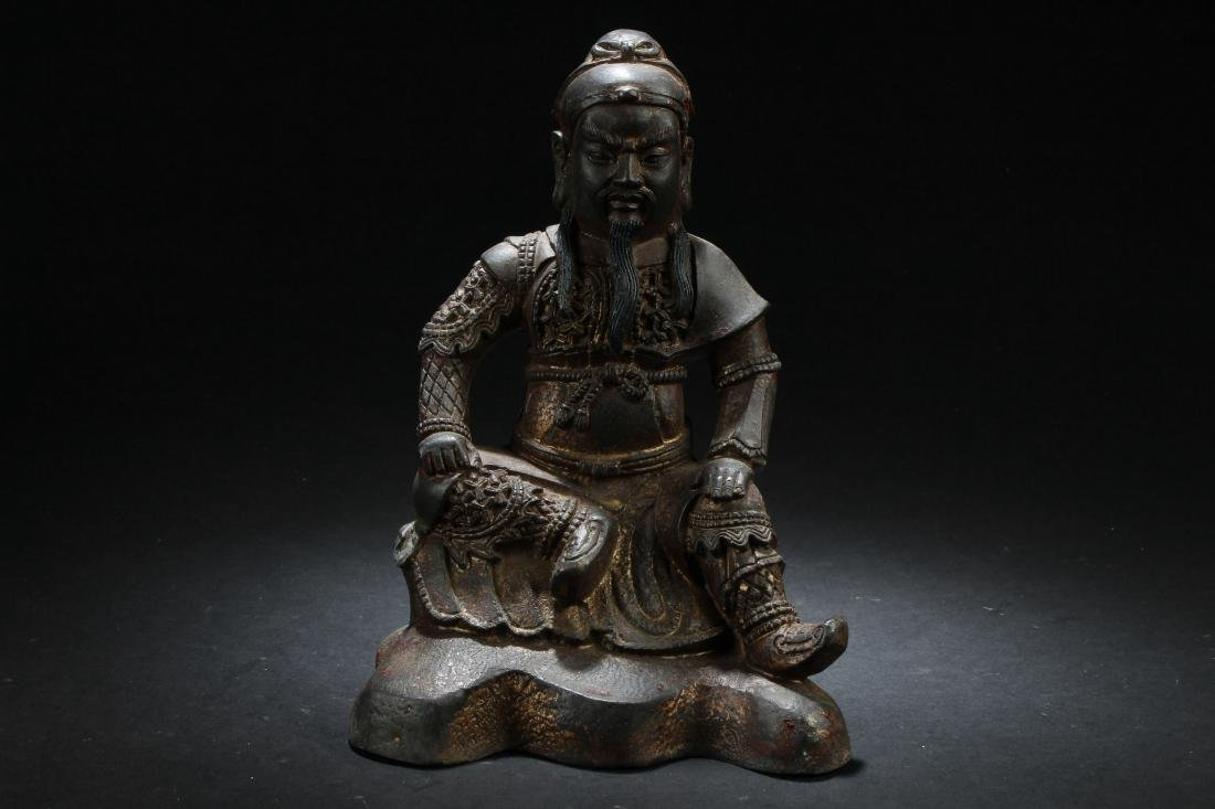 A Chinese Seated Estate Fortune Buddha Statue