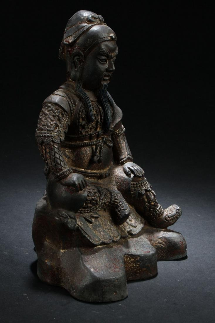 A Chinese Seated Estate Fortune Buddha Statue - 2
