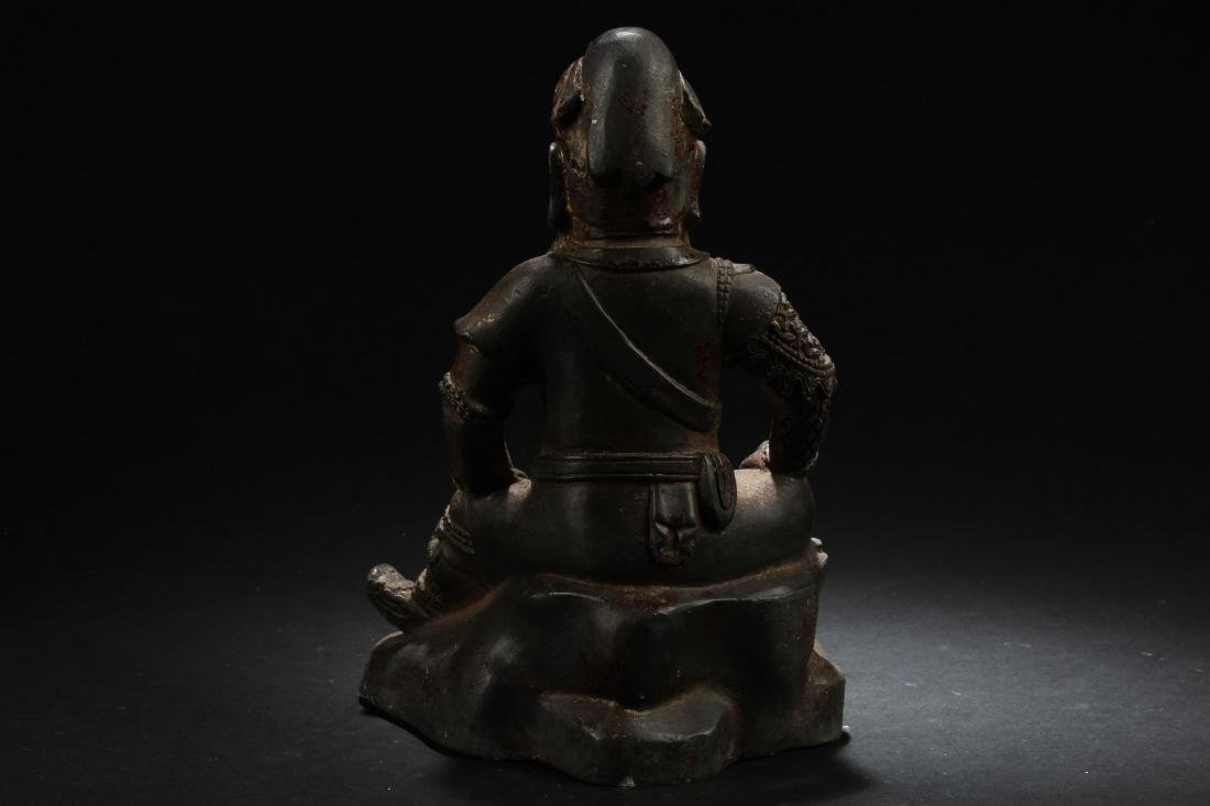 A Chinese Seated Estate Fortune Buddha Statue - 4
