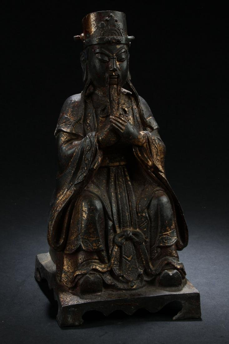 A Chinese Seated Estate Governor-portrait Statue