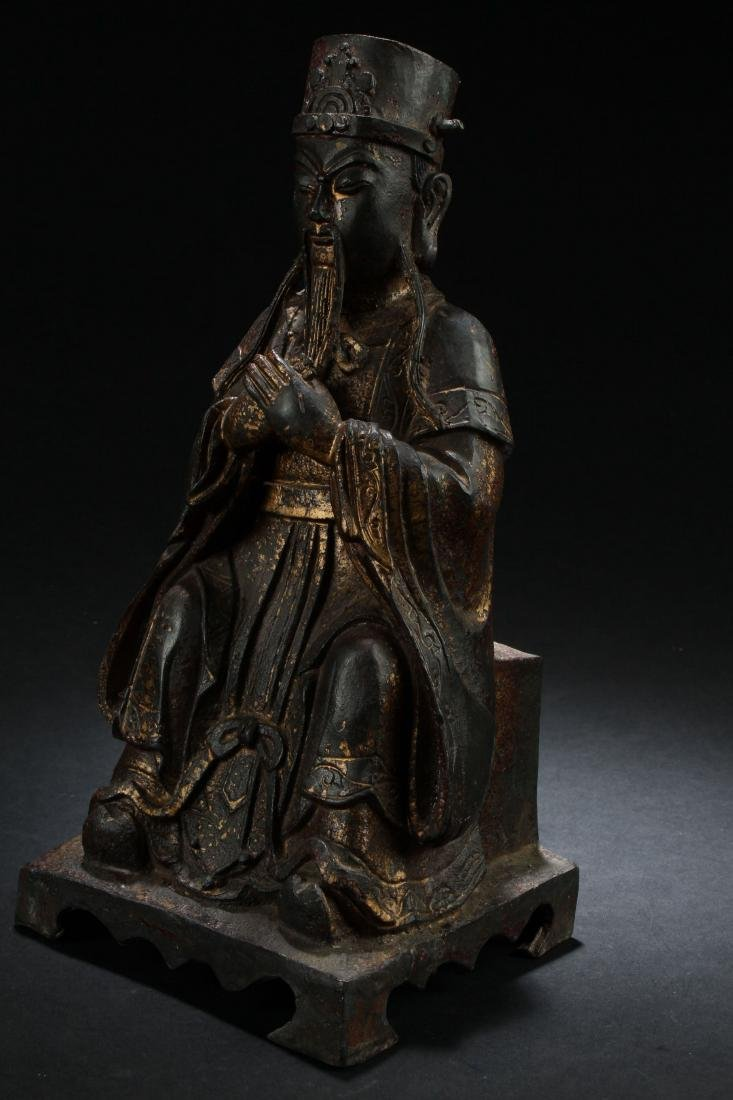 A Chinese Seated Estate Governor-portrait Statue - 2