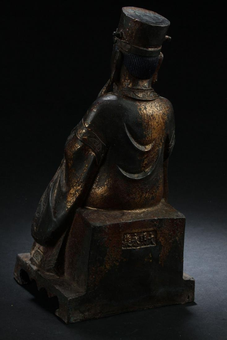 A Chinese Seated Estate Governor-portrait Statue - 3