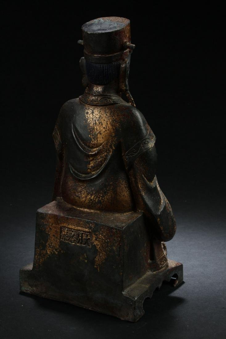 A Chinese Seated Estate Governor-portrait Statue - 4